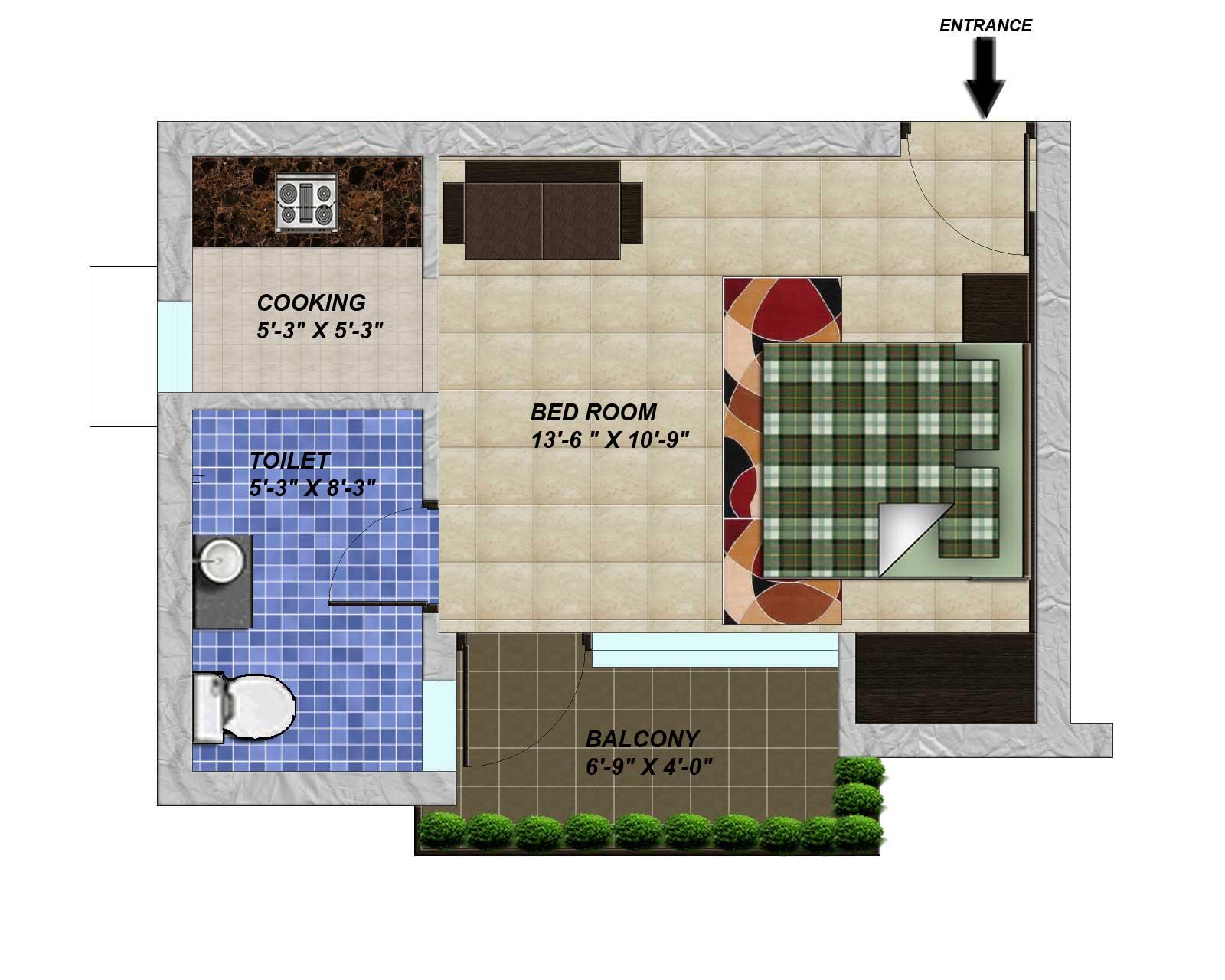 Floor Plan-Studio